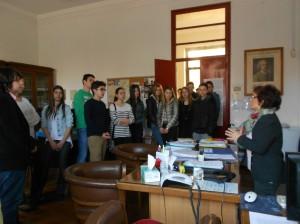 Директор школе  Николина Франкавиле са нашим ученицима
